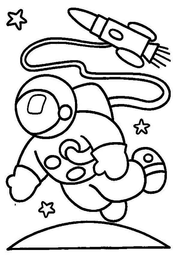 reveal the mystery of the sky with astronaut 20 astronaut coloring ... - Astronaut Coloring Pages Printable