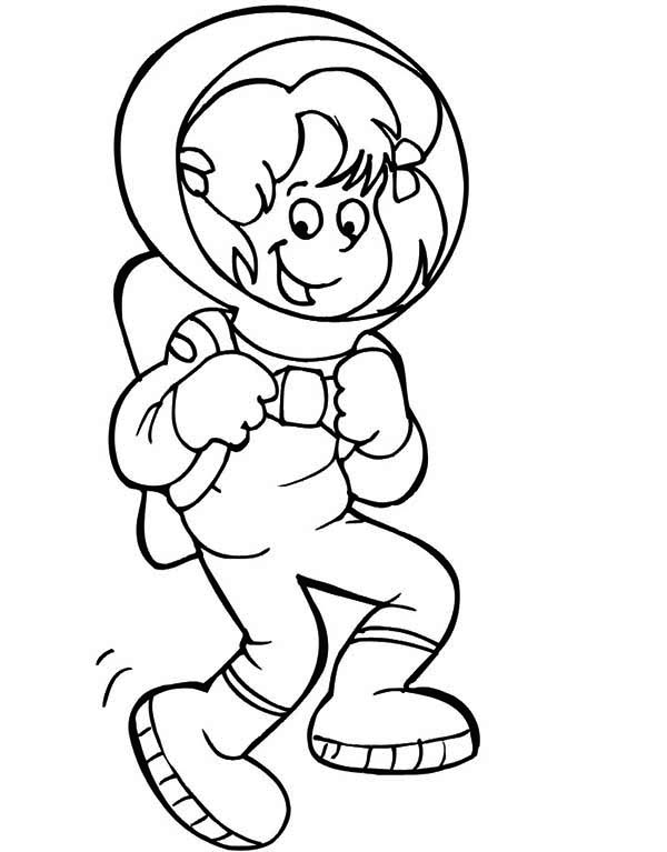 Donald Duck astronaut coloring pages for kids, printable free ... | 767x600