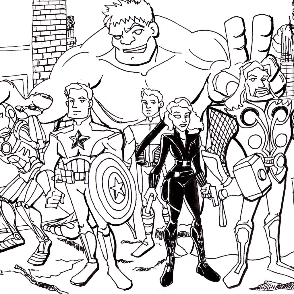thrilling adventure of superheroes avengers 20 avengers coloring