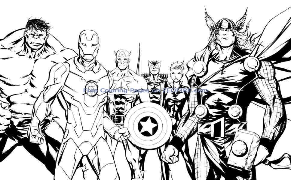 avengers coloring sheets Free