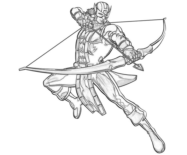 Clint Barton coloring page