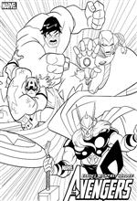 Avengers printable pages for kids