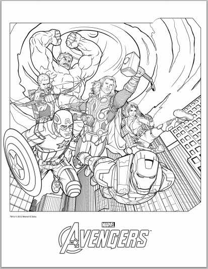 Thrilling adventure of superheroes Avengers 20 Avengers coloring ...