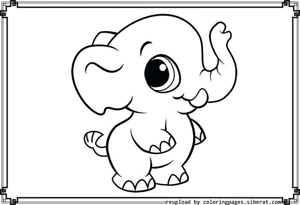 Adorable creature Baby elephant 18 Baby elephant coloring