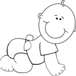 Remember the childhood again with Baby 17 Baby coloring pages