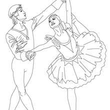 Girl Dancing Ballet Coloring Page Boy And Together