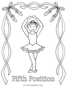 Ballet dancing coloring page