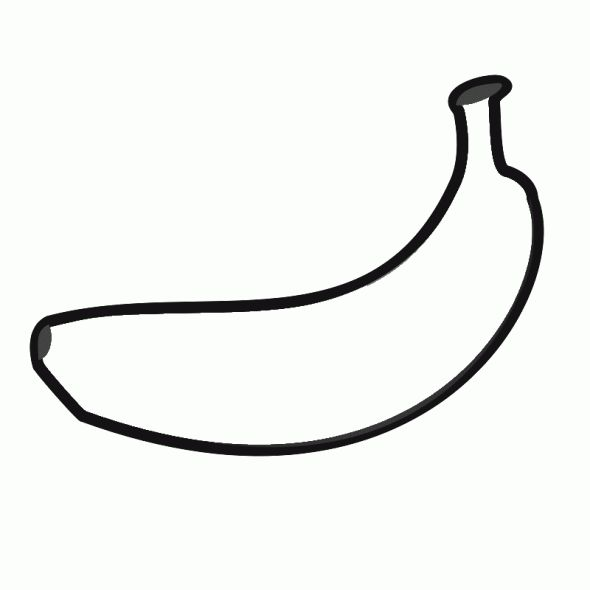 Beneficial fruit Banana 20 Banana coloring pages Free