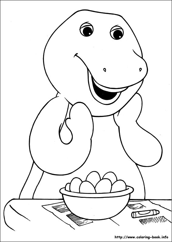 Story Of A Friendly Dinosaur Barney 20 Coloring Pages