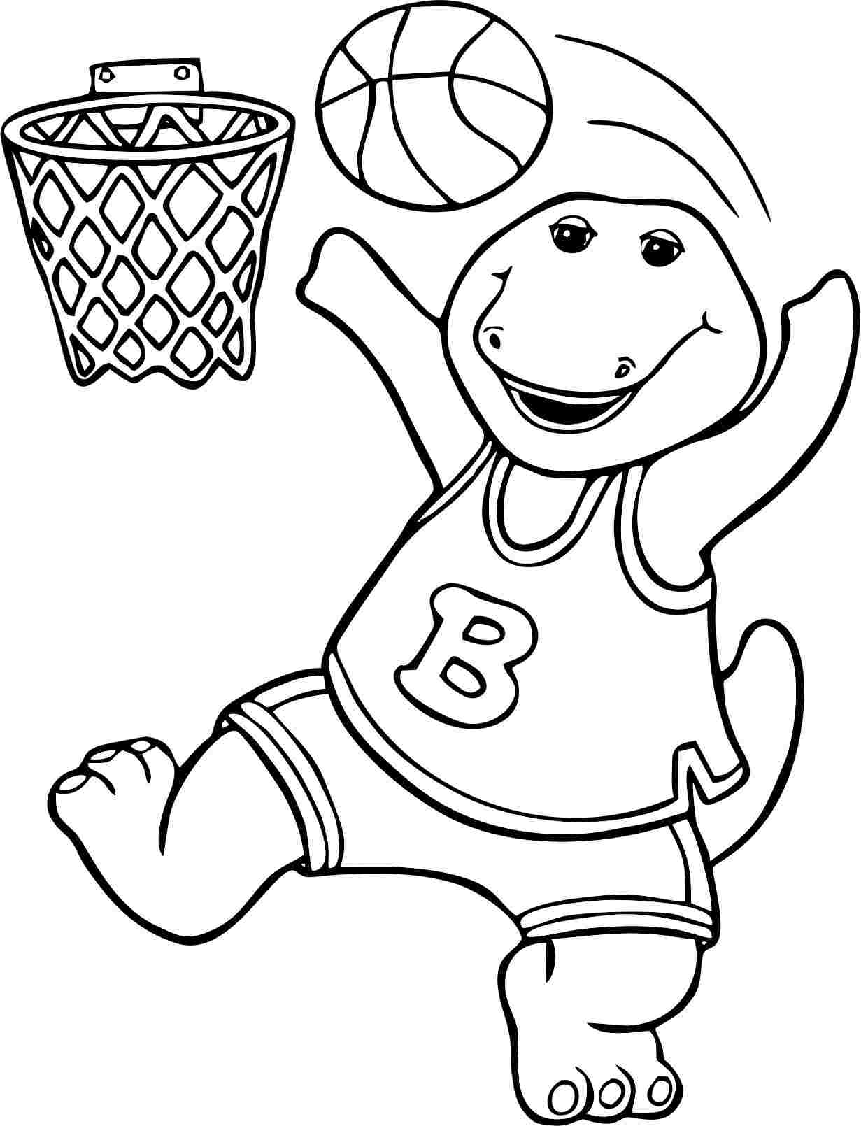 free online coloring pages to print | Story of a friendly dinosaur Barney 20 Barney coloring ...