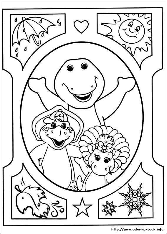 Story of a friendly dinosaur Barney 20 Barney coloring pages | Free ...