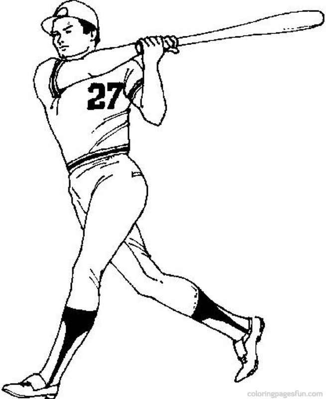 Baseball player printable page