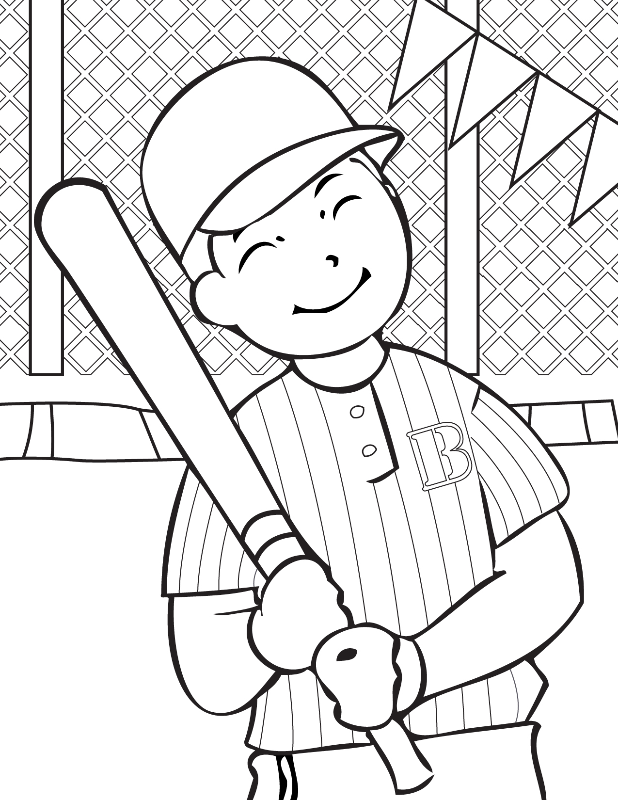 smiling Baseball player