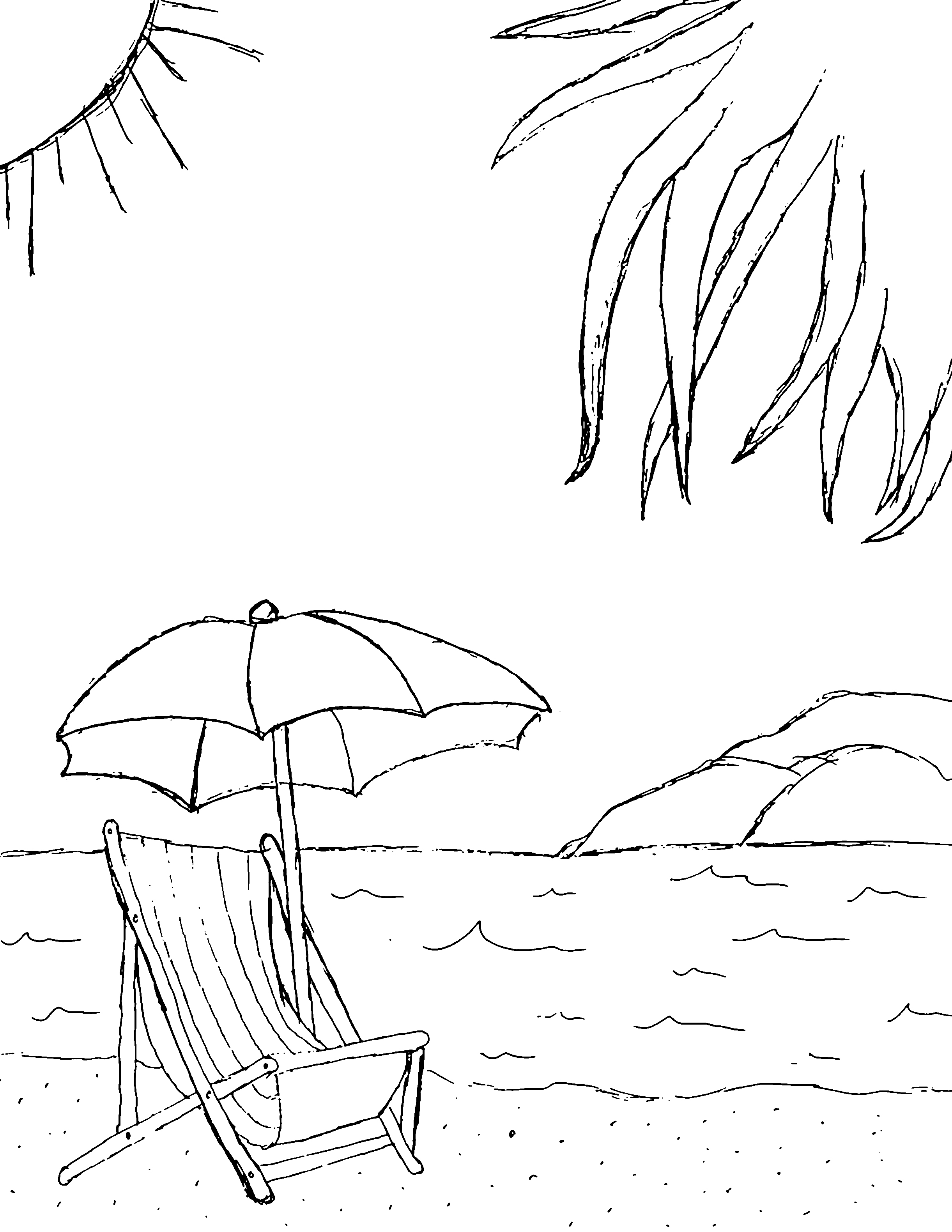 Heavenly view of the Beach 20 Beach coloring pages | Free Printables