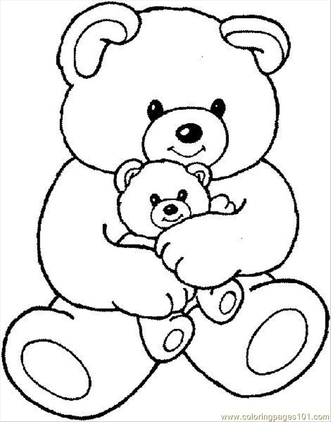 Category 2017 Tags Teddy Bear Coloring Pages Free