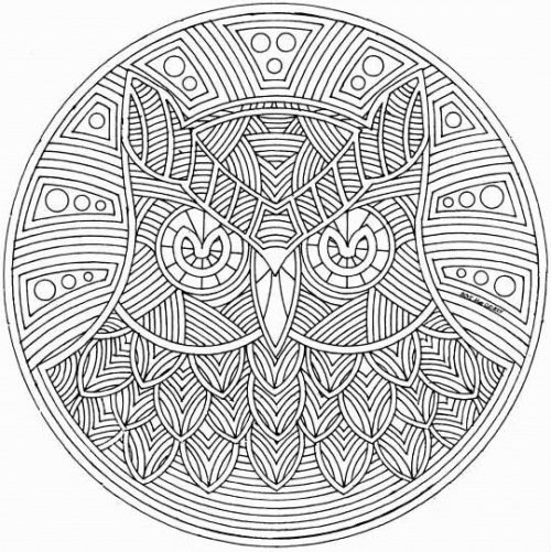 amazing abstract of an owl - Coloring Pages Abstract Printable