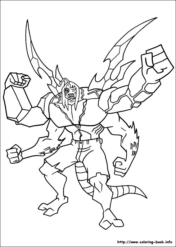 Ben 10 Coloring Page Fourarms