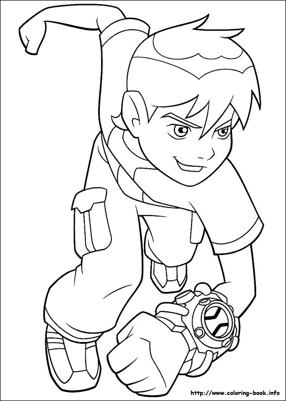 smiling Ben coloring page