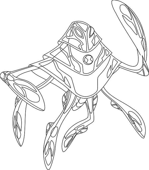alien in Ben 10 coloring page