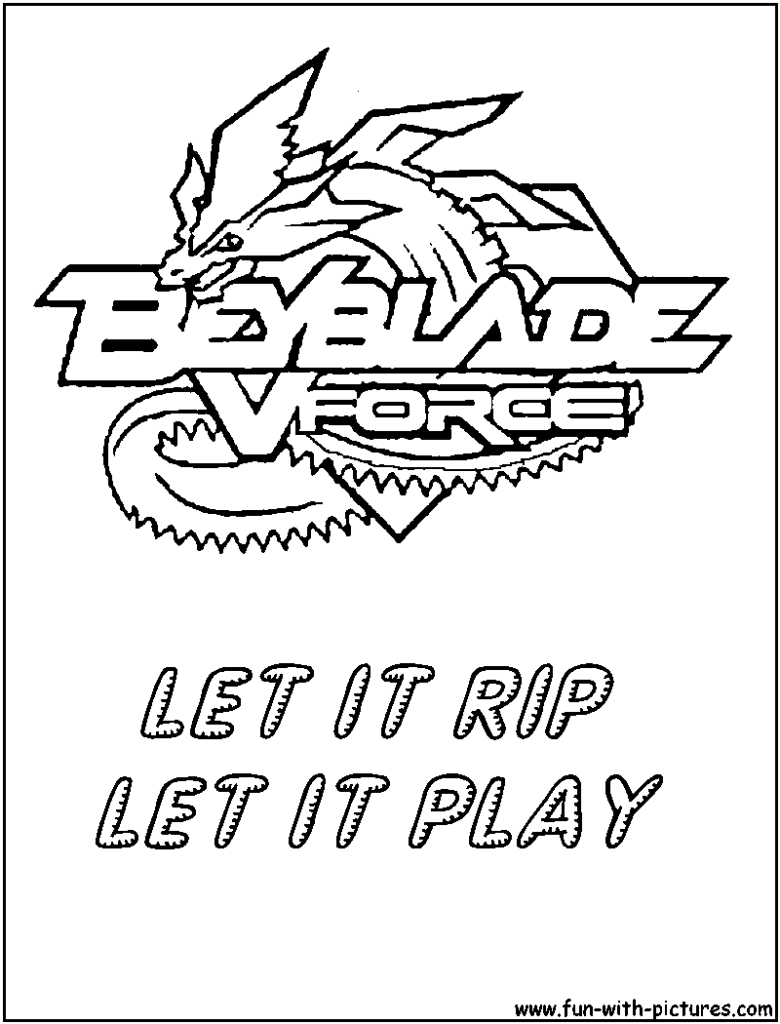 Beyblade Coloring Pages By Addison Logo Coloringg Page