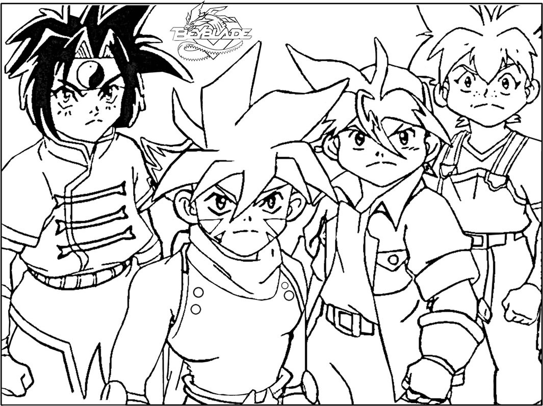Beyblade the team spirit coloring page