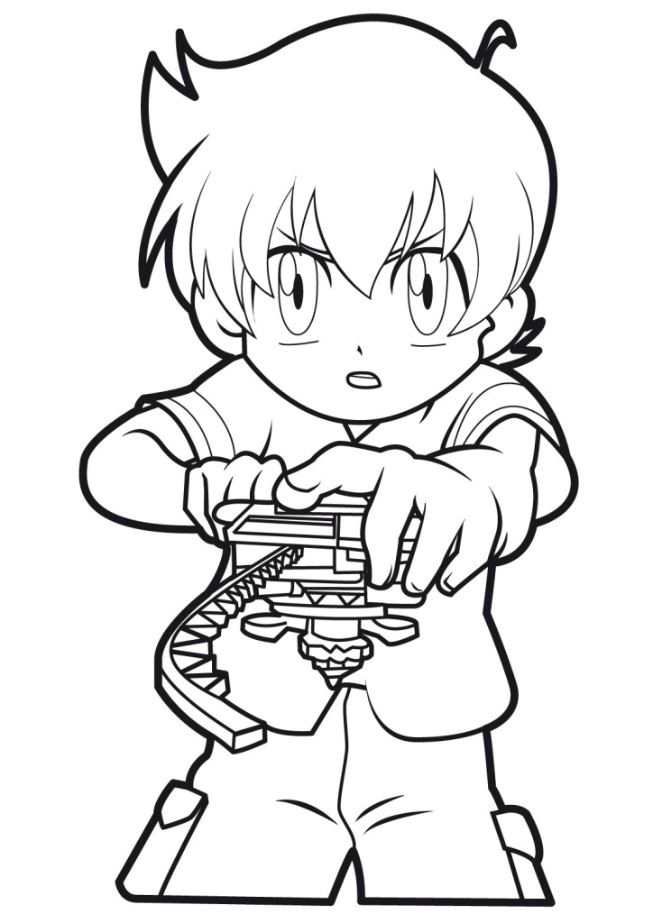 beyblade coloring pictures added ethan hiro granger coloring page - Beyblade Coloring Pages