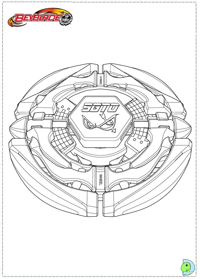 Beyblade coloring page