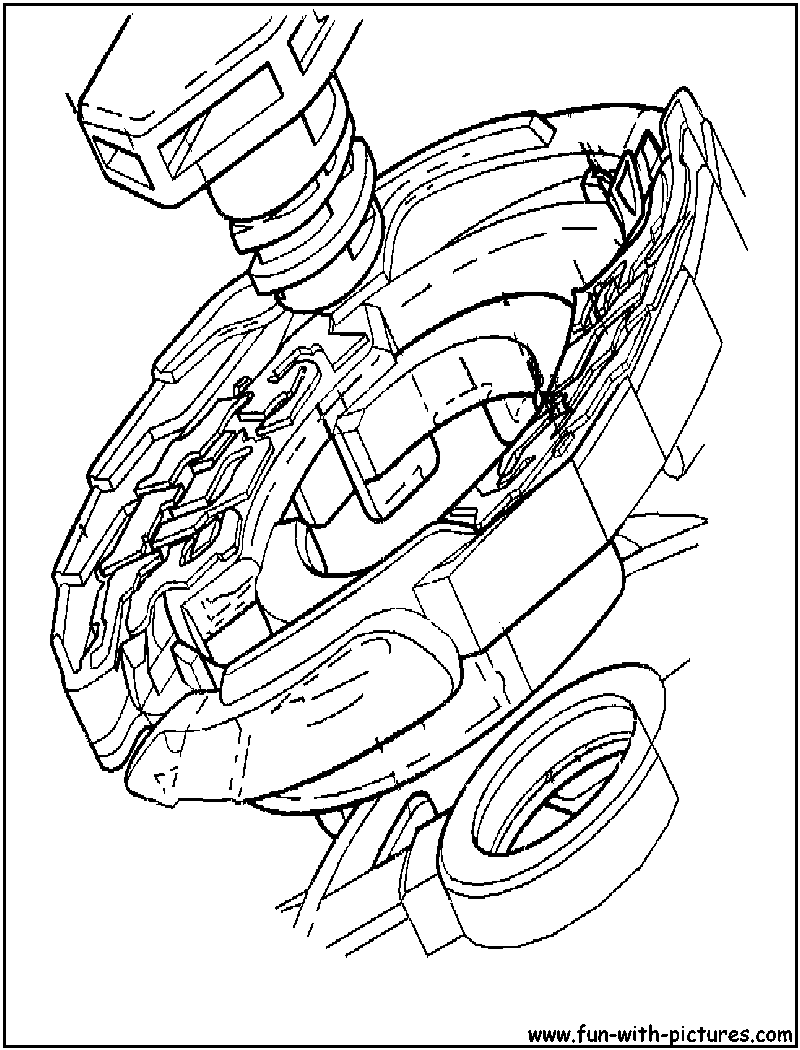 dangerous Beyblade coloring page