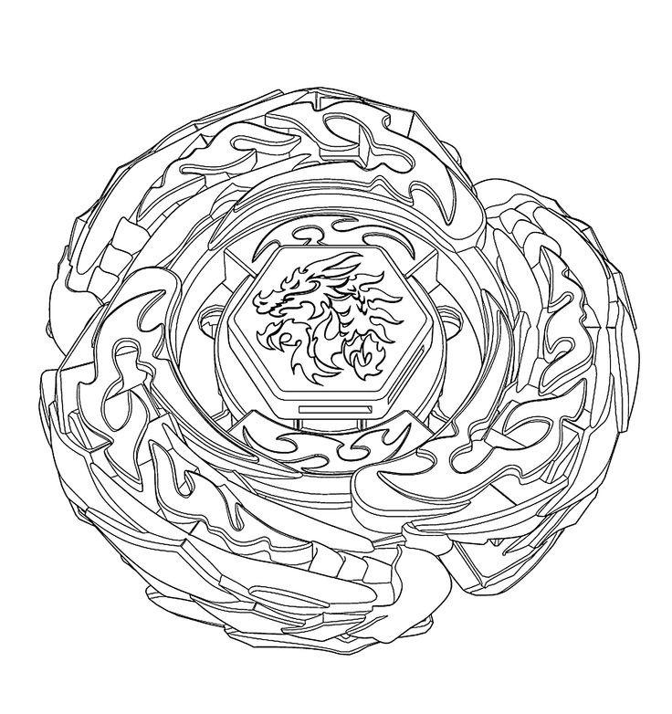 Beyblade coloring page for kids