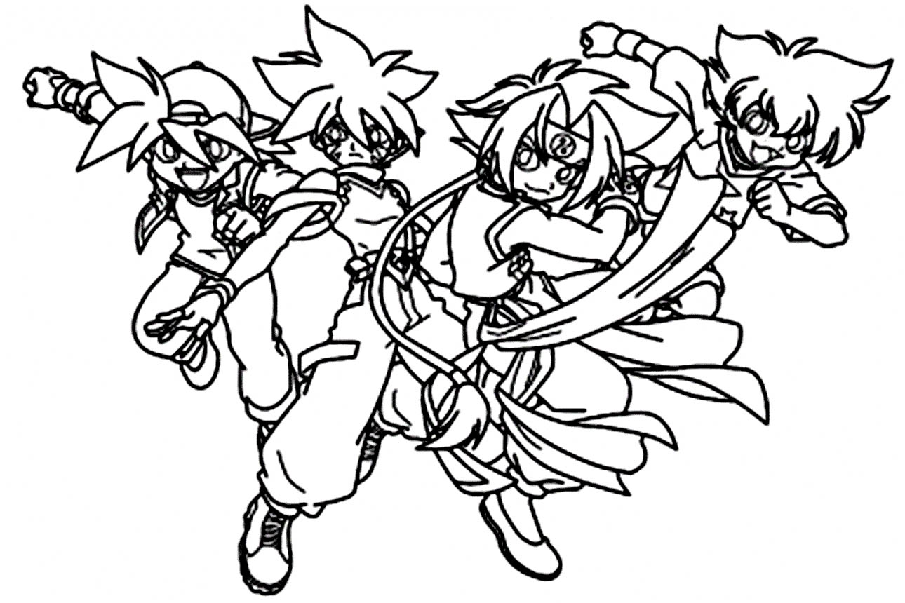 Beyblade team in action
