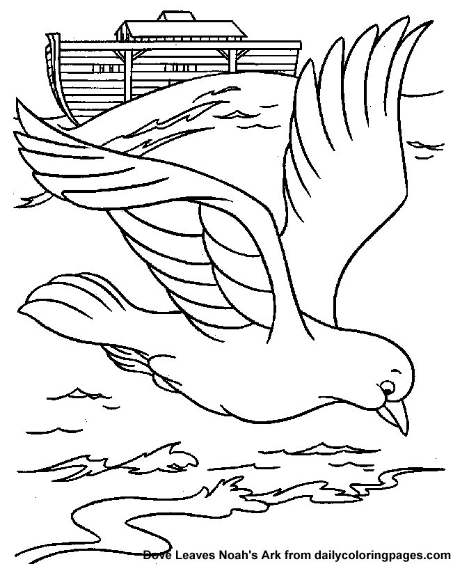 Holy Bird Pigeon Little Jesus Coloring Page