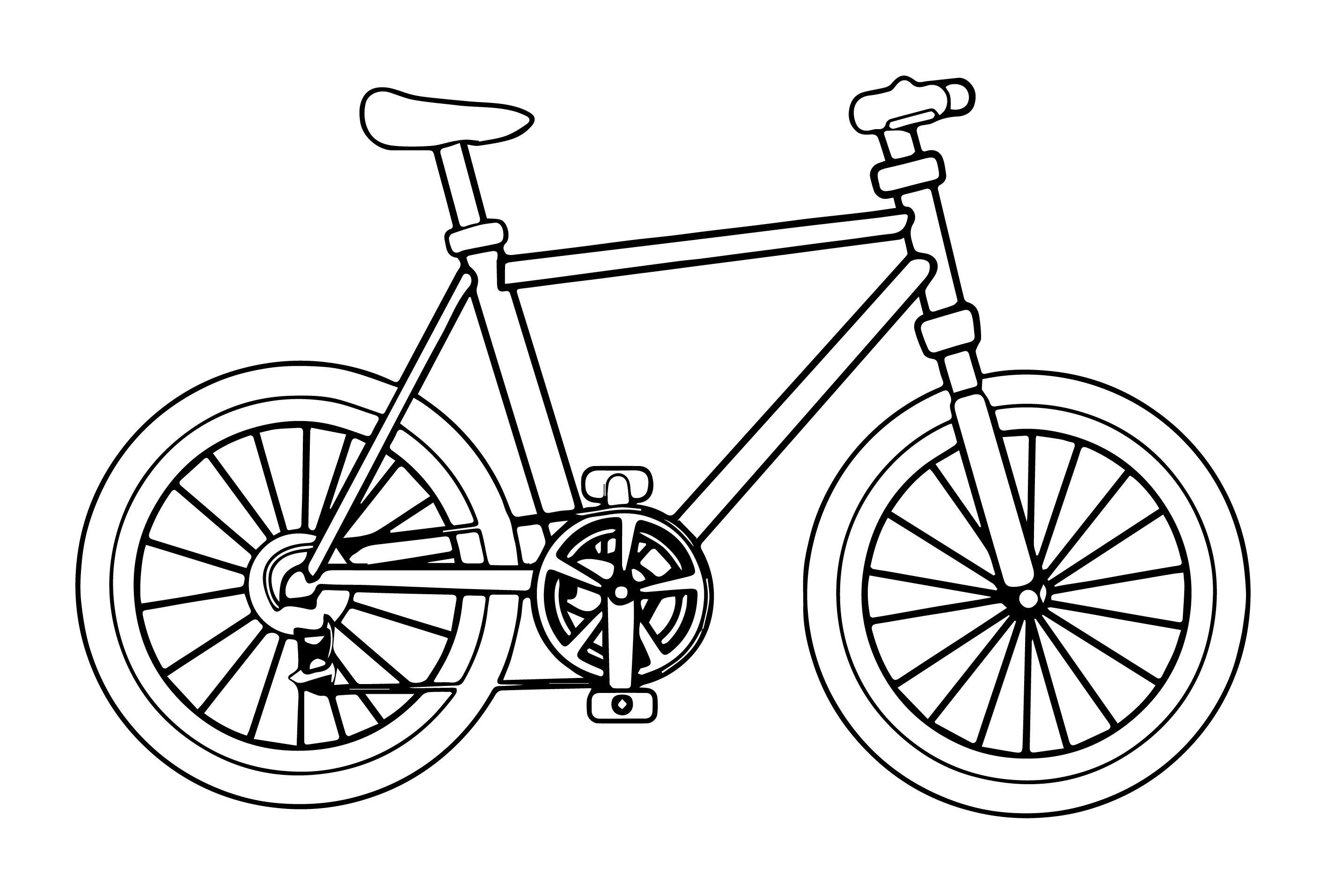 Bicycle image coloring page