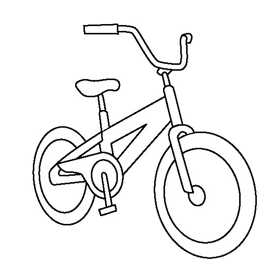 small Bicycle coloring page