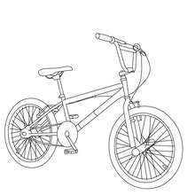 simple Bicycle coloring page