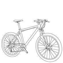 Bicycle picture coloring page