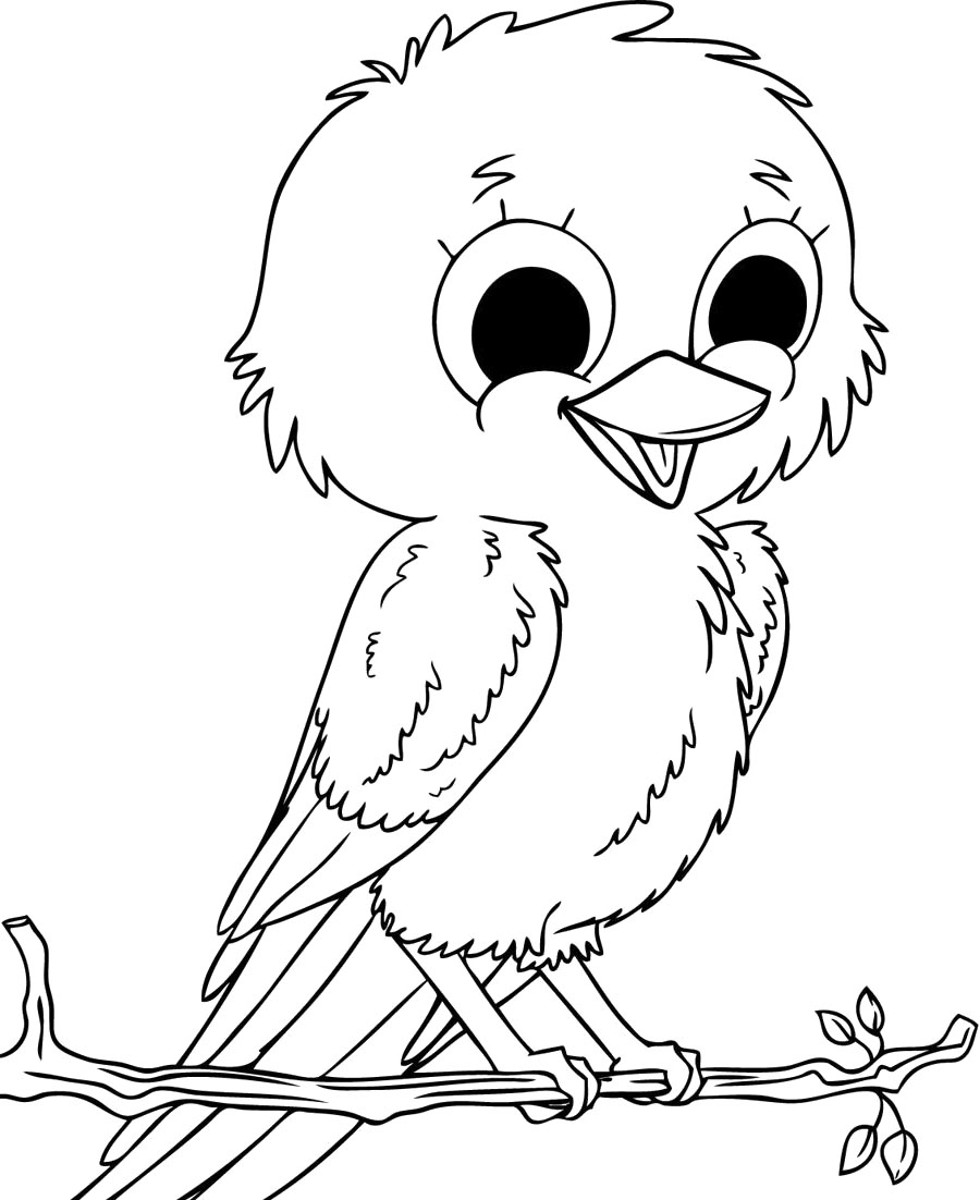 cute Bird image coloring page