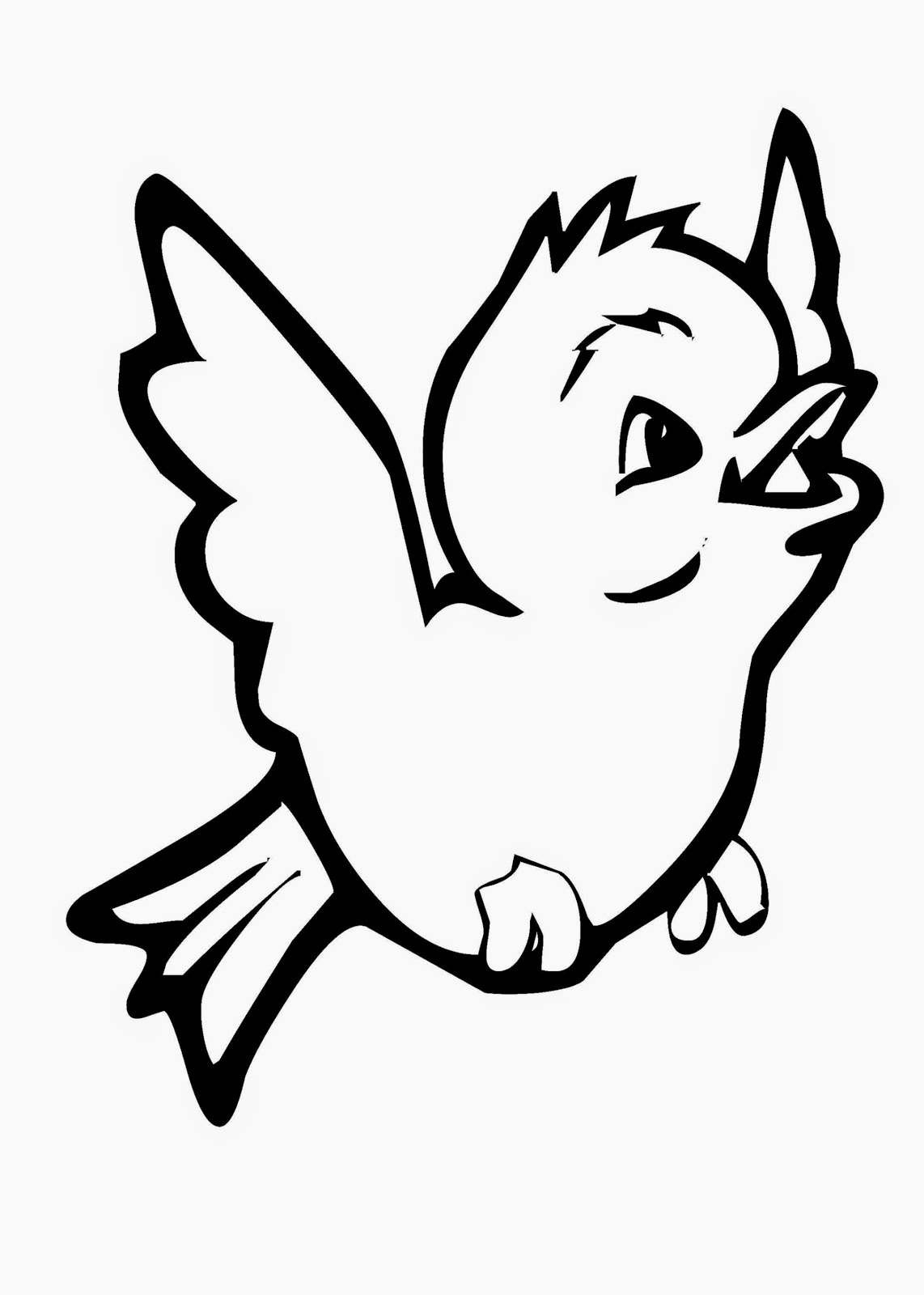 tiny Bird image coloring page