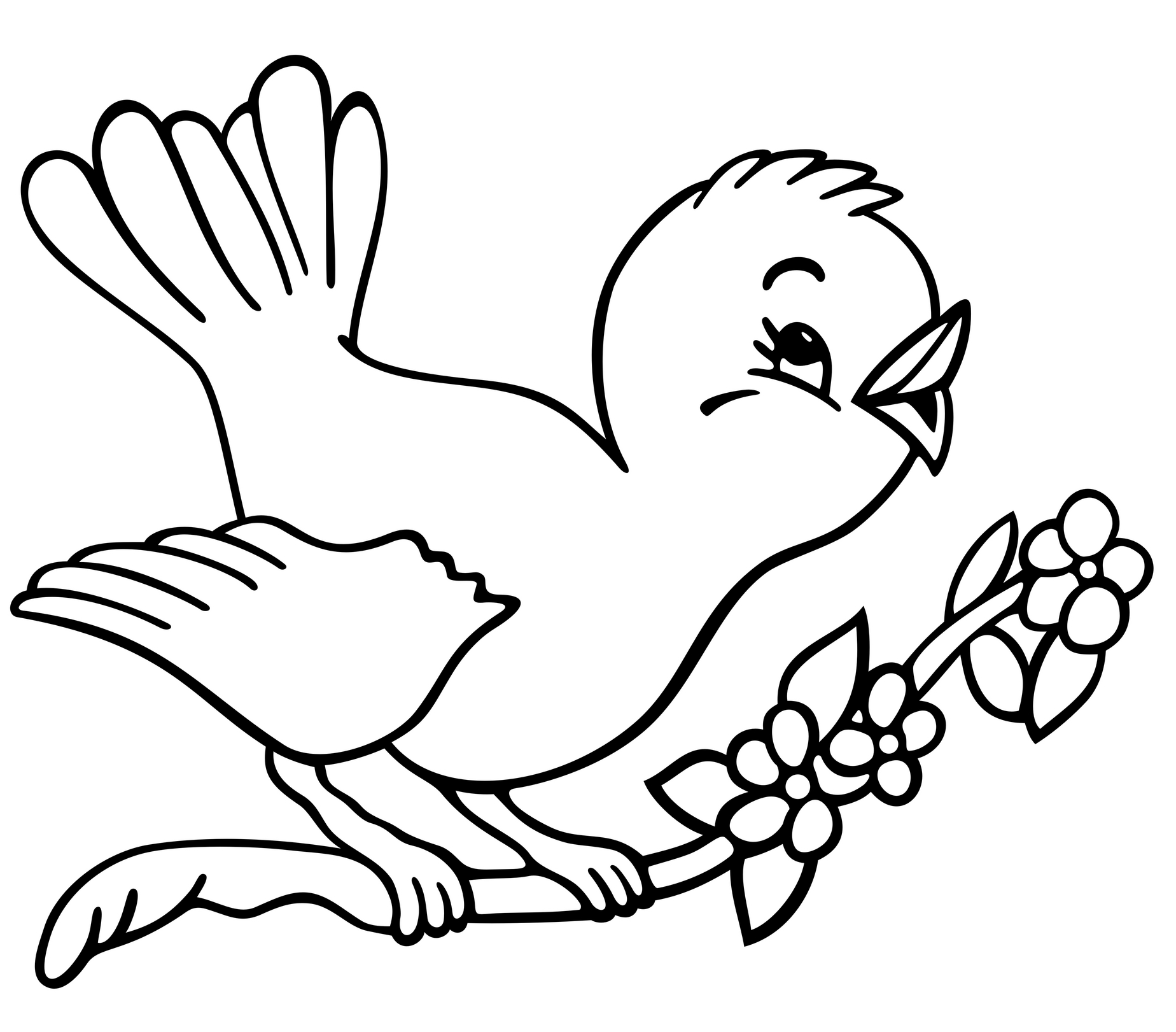 Baby Bird Coloring Pages Printable | Bird coloring pages, Coloring ... | 1621x1848