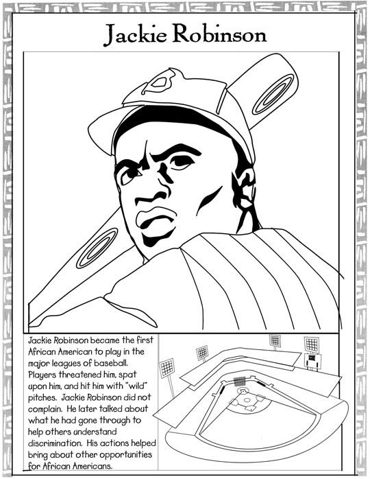 Black history month hero coloring page