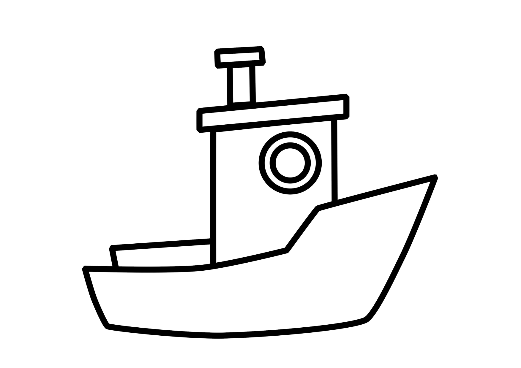 little Boat coloring page