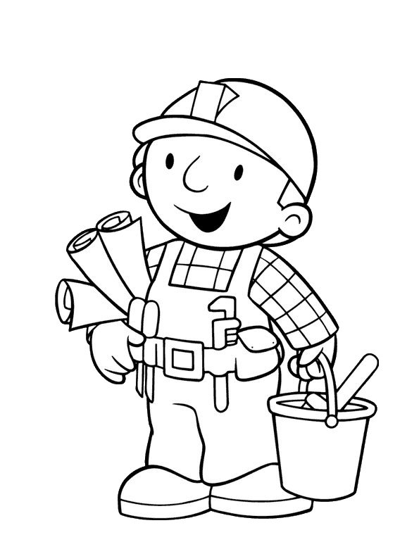 Bob The Builder Coloring Page At Work