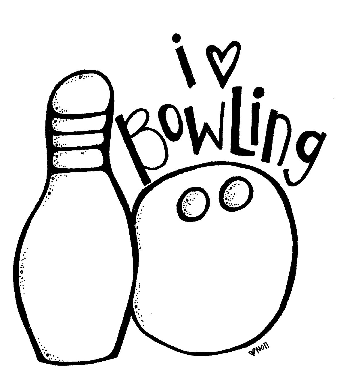 bowling print and color Free