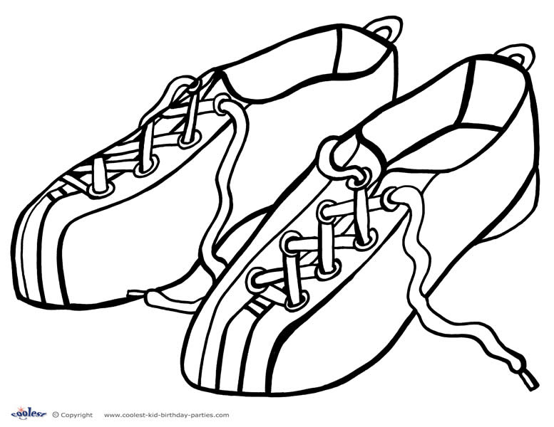 Bowling shoes coloring page