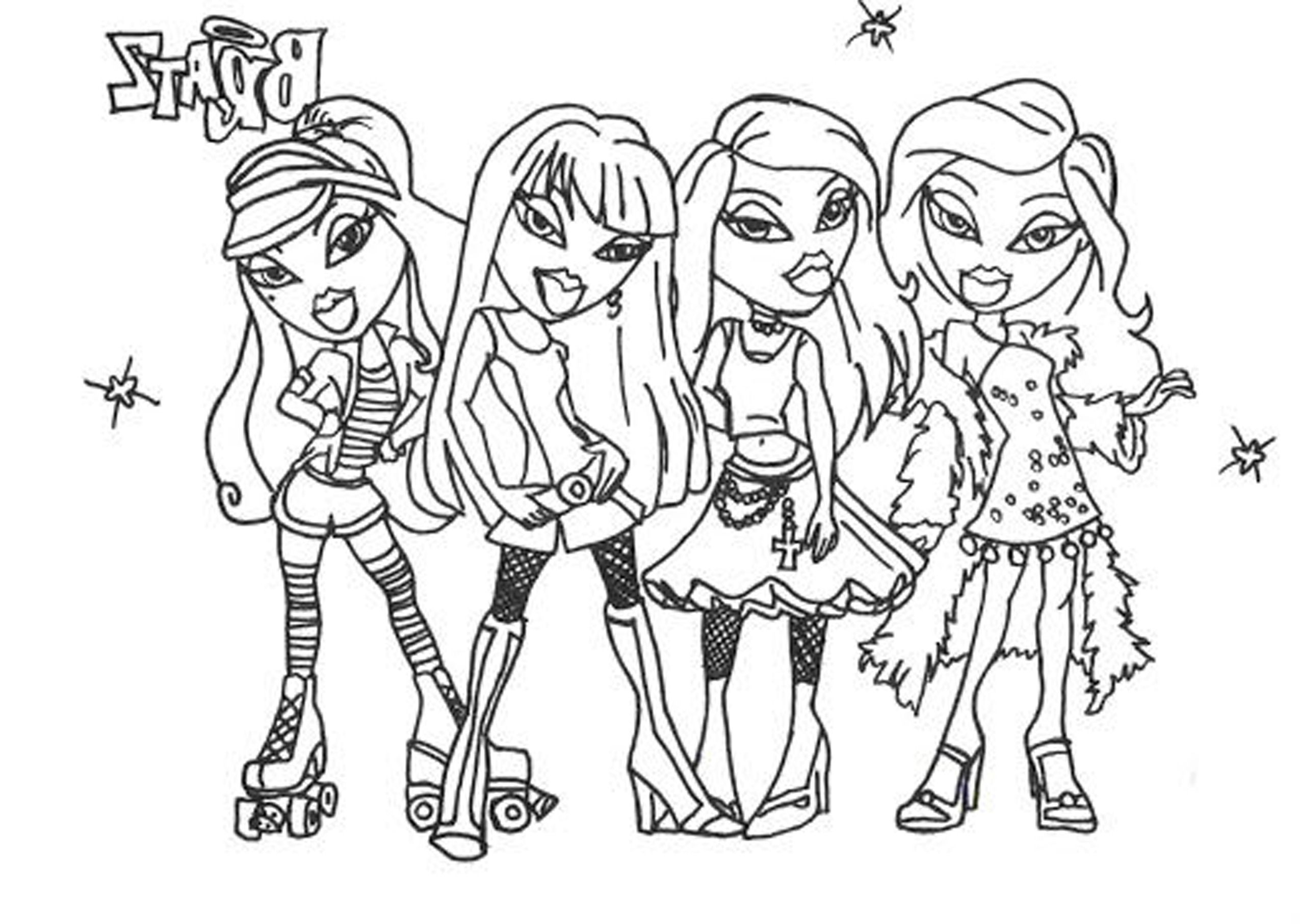Girly Adventures Of Bratz 20 Bratz Coloring Pages Free