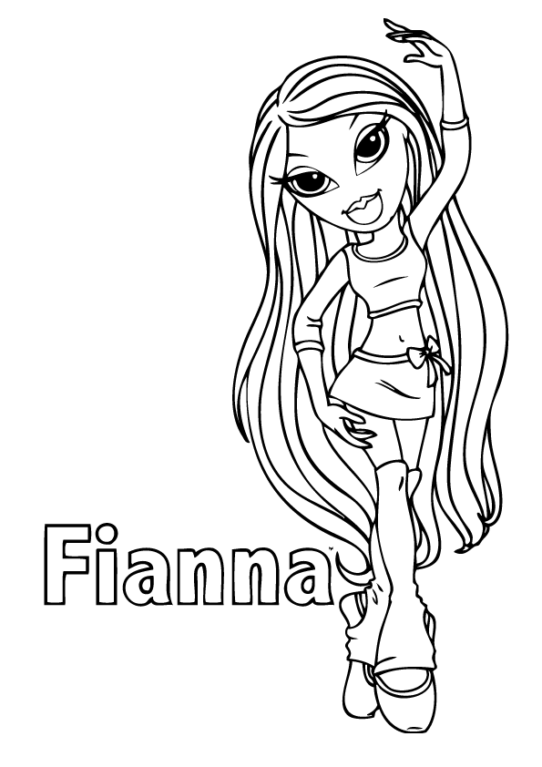bratz the group coloring pages - photo#34