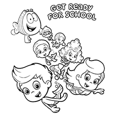 Bubble Guppies poster coloring page