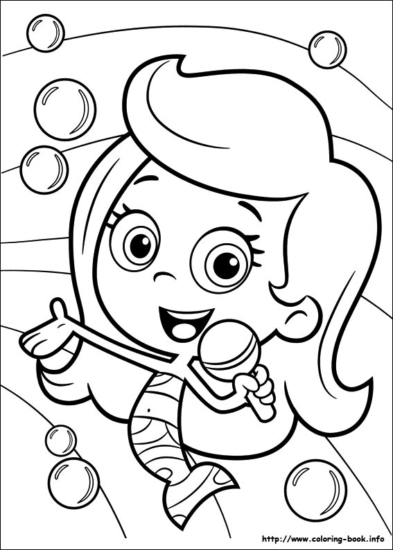 underwater bubbles coloring pages - photo#7