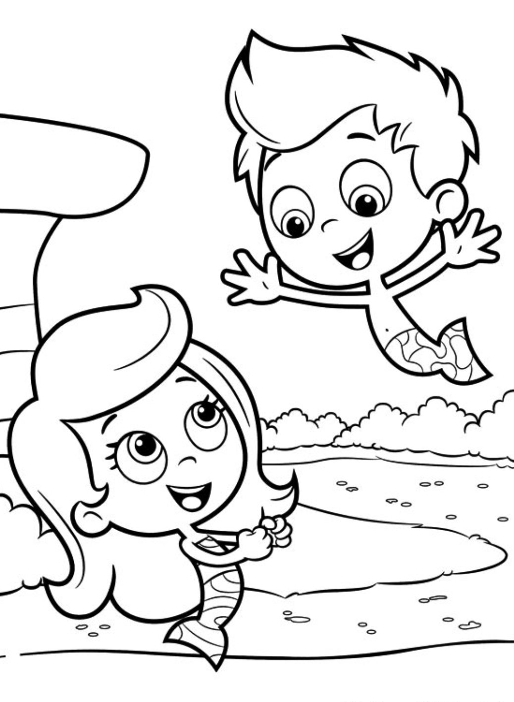 bubble guppies coloring page - underwater mermaid school bubble guppies 20 bubble guppies