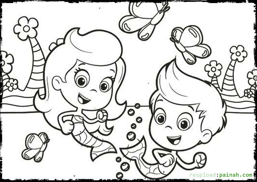 bubble guppies oona colouring pages ziho coloring