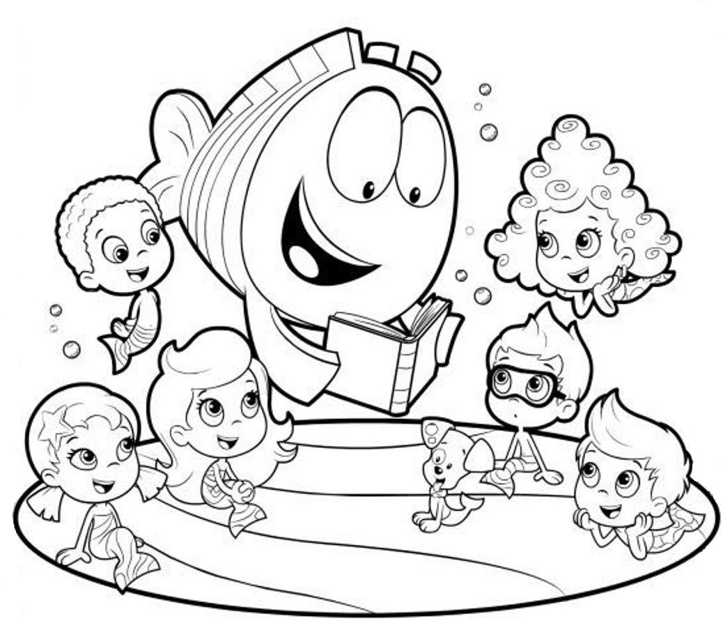 underwater bubbles coloring pages - photo#10